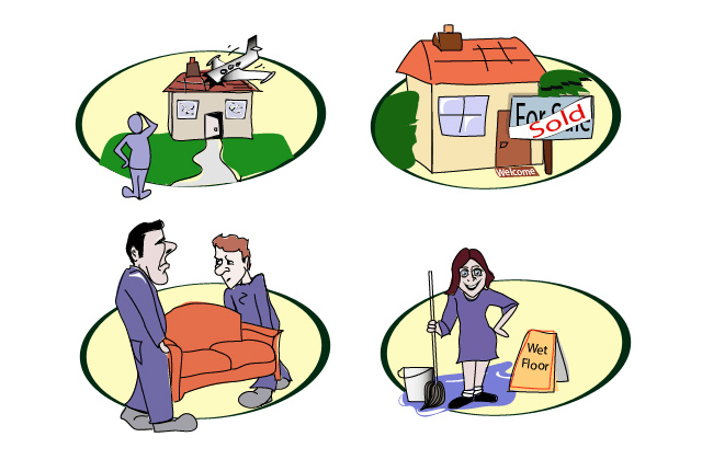 Cartoon Illustrations for Property Management Company