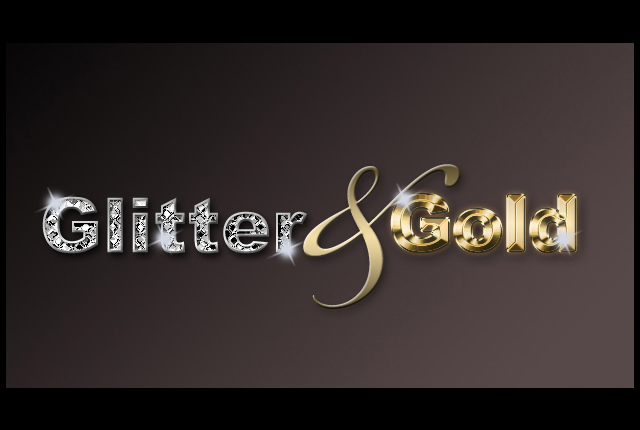 Glitter & Gold Photoshop Effects