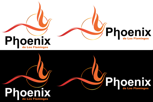 Logo Variations for Phoenix de Los Flamingos