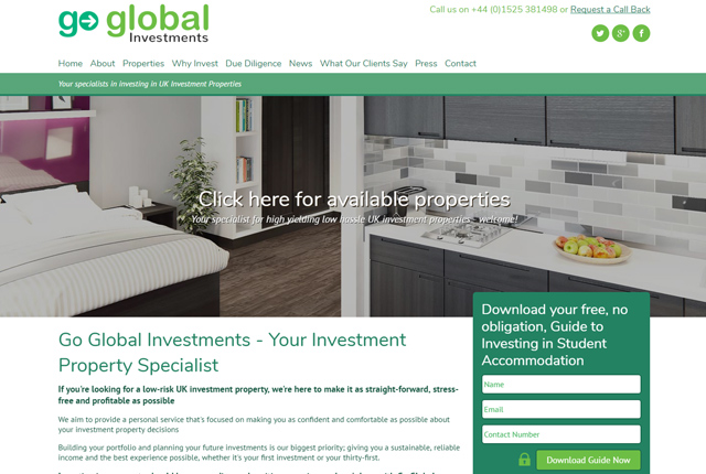 Go Global Investments converted to responsive layout
