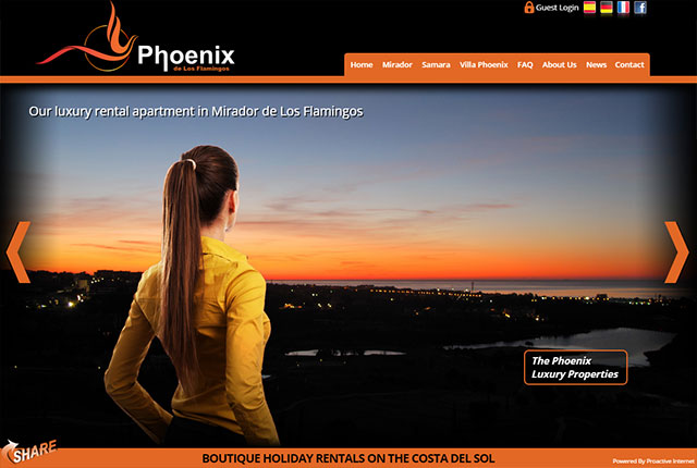 Phoenix de los Flamingos website design