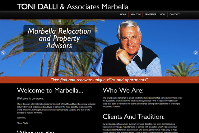 Toni Dalli & Associates website design